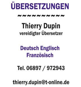 Übersetzungen Thierry Dupin